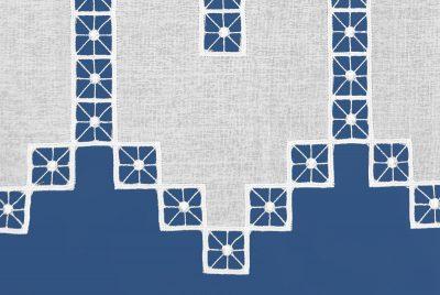 Moderne Kurzgardine Schneeballspitze zeitlos 41 cm Detailbild_1