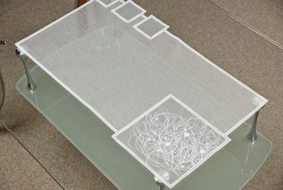 Moderne Tischdeckchen Schneeballspitze modern 31X54 cm