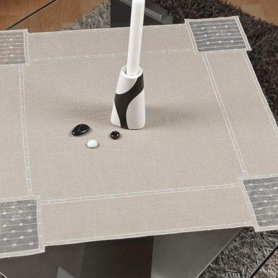 Moderne Tischdecke Schneeballspitze dezent 58×58 cm