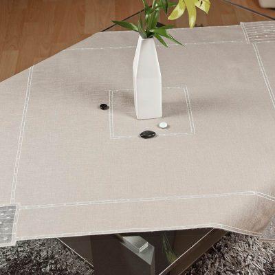 Moderne Tischdecke Schneeballspitze dezent 85×85 cm