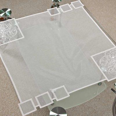 Moderne Tischdecke Schneeballspitze modern 60X60 cm