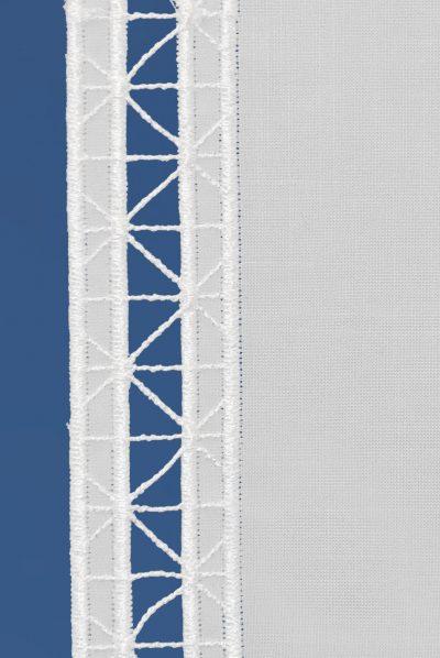 moderner flächenvorhang geradlinig plauener spitze detailbild_1