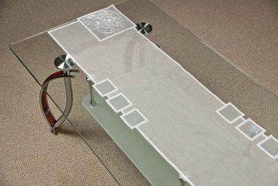 Moderner Tischläufer Schneeballspitze modern 31×122 cm