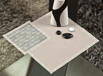 Modernes Deckchen Schneeballspitze dezent 25 × 25 cm Plauener Spitze