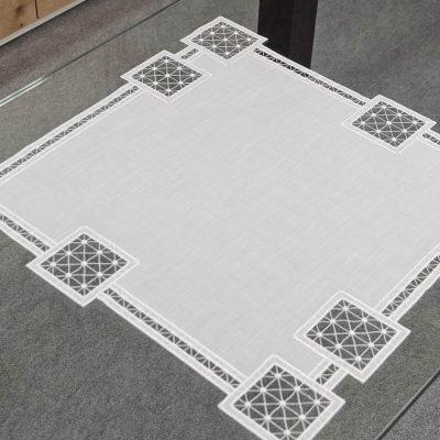 Moderne plauener-spitze-tischdecke-modern-Quadrat-60x60-cm