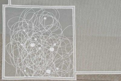 Plauener Spitze Tischläufer Modern Schneeball-Spitze 31x122 cm