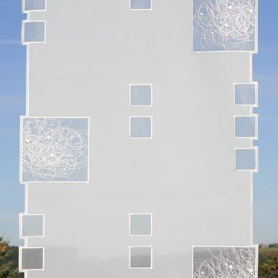 Moderner Flächenvorhang Fensterbehang Schneeballspitze 60 cm