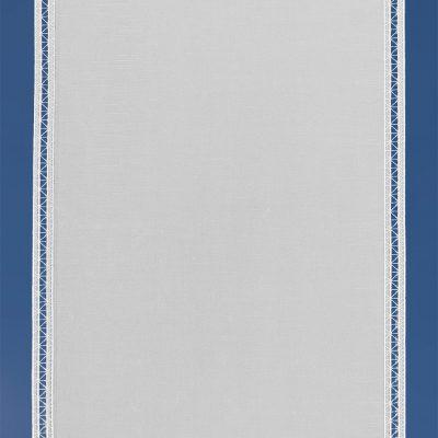 Moderne Scheibengardine aus Plauener Spitze