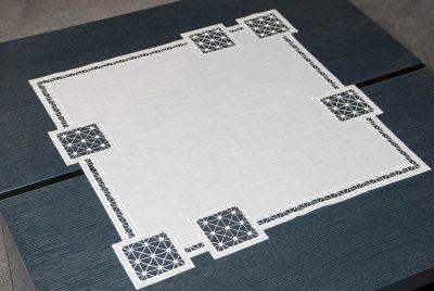 Moderne Tischdecke Plauener Spitze Quadrat