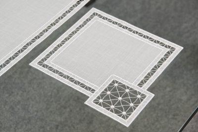 Moderne Tischdecken Plauener Spitze Quadrat 25x25 cm