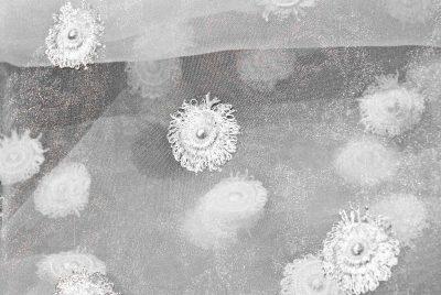 Kleider Spitze Meterware aus Plauener Spitze Schneeballspitze