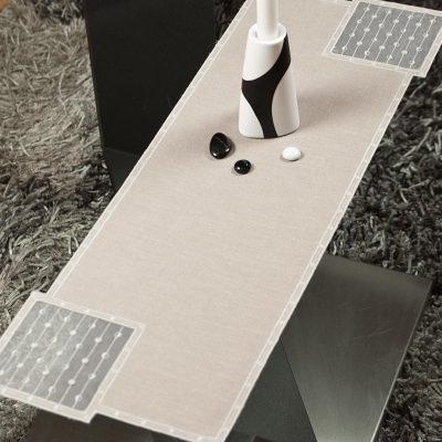 Moderner Tischläufer Plauener Spitze dezent