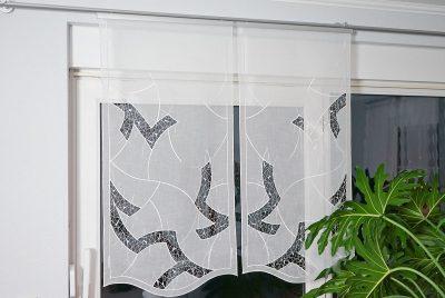 Moderner Fensterbehang Flächenvorhang Plauener Spitze Gardinen Aline
